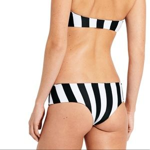 MIKOH Bikini bottom 2019 striped cheeky XL